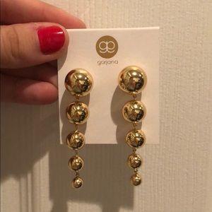 Gorjana gold drop earrings